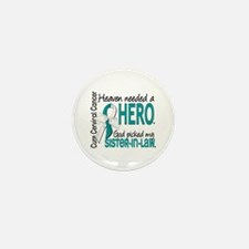 Cervical Cancer HeavenNeeded Mini Button (10 pack)