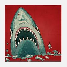 Shark Attack Tile Coaster
