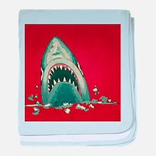 Shark Attack baby blanket