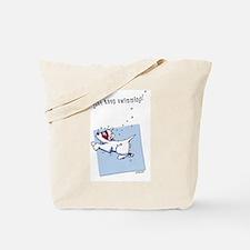Swimming Westie Beach Towel Tote Bag