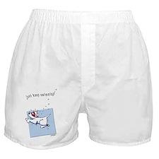 Swimming Westie Beach Towel Boxer Shorts