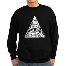 Eye of Providence White Sweatshirt