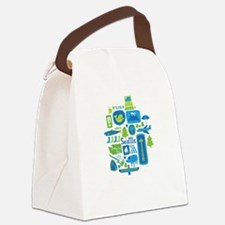Sights of Seattle Canvas Lunch Bag