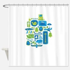 Sights of Seattle Shower Curtain