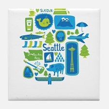 Sights of Seattle Tile Coaster