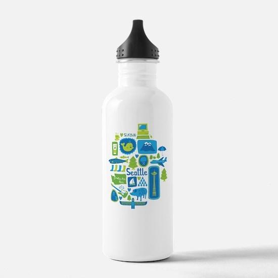 Sights of Seattle Water Bottle