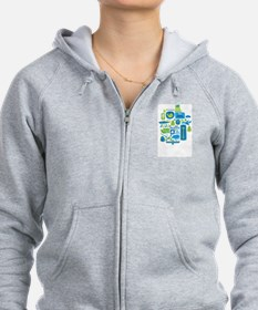 Sights of Seattle Zip Hoodie