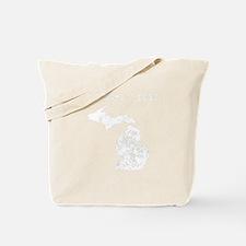 Custom Distressed Michigan Silhouette Tote Bag