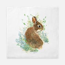 Cute Watercolor Bunny Rabbit Animal Art Queen Duve