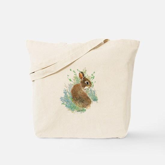 Cute Watercolor Bunny Rabbit Animal Art Tote Bag