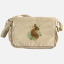 Cute Watercolor Bunny Rabbit Animal Art Messenger