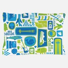 Sights of Seattle Pillow Case