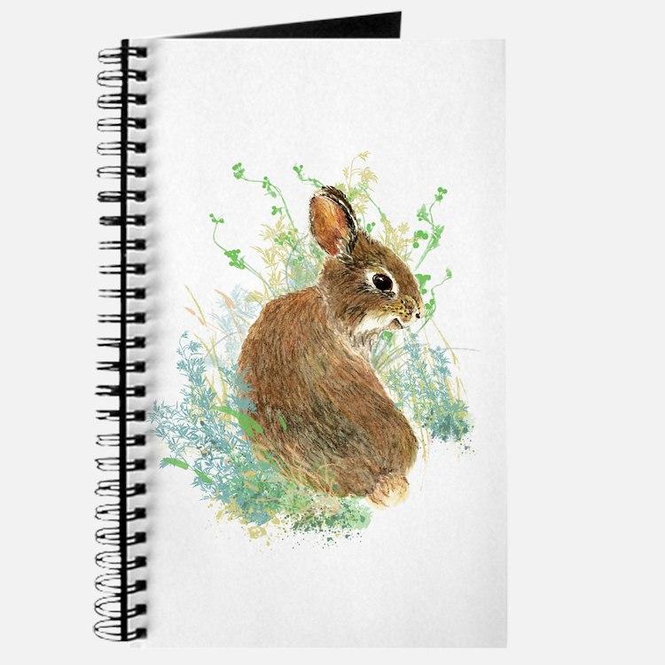 Cute Watercolor Bunny Rabbit Animal Art Journal