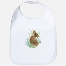 Cute Watercolor Bunny Rabbit Animal Art Bib