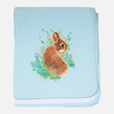 Cute Watercolor Bunny Rabbit Animal Art baby blank
