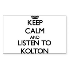 Keep Calm and Listen to Kolton Decal