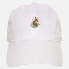 Cute Watercolor Bunny Rabbit Animal Art Hat
