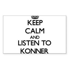 Keep Calm and Listen to Konner Decal