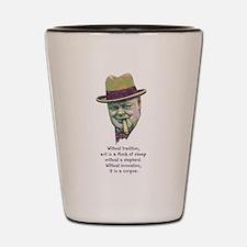 Churchill -Art Shot Glass