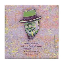Churchill -Art Tile Coaster