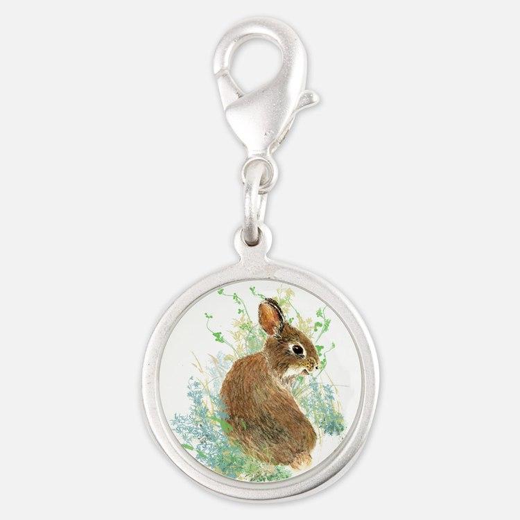 Cute Watercolor Bunny Rabbit Animal Art Charms