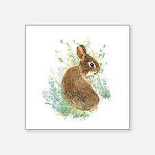 Cute Watercolor Bunny Rabbit Animal Art Sticker
