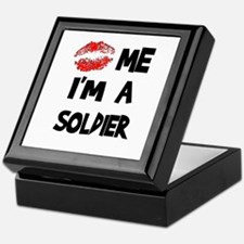 Kiss Me I'm A Soldier Keepsake Box