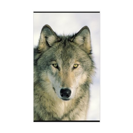 Wolf Face Rectangle Sticker