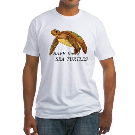Save the Sea Turtles Fitted T-Shirt
