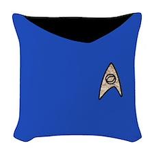 Star Trek Tos Blue Uniform Woven Throw Pillow
