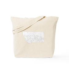 Distressed Montana Silhouette Tote Bag