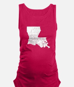 Distressed Louisiana Silhouette Maternity Tank Top