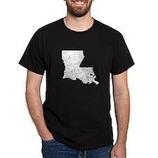 Distressed Louisiana Silhouette T-Shirt