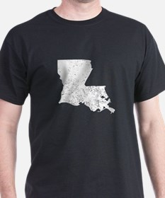 Distressed Louisiana Silhouette T-Shirt