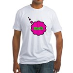Meh (Whatever) Fitted T-Shirt