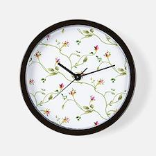 Elegant Roses Pattern Wall Clock