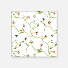 "Elegant Roses Pattern Square Sticker 3"" x 3"""