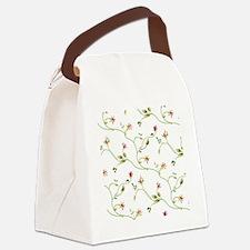 Elegant Roses Pattern Canvas Lunch Bag