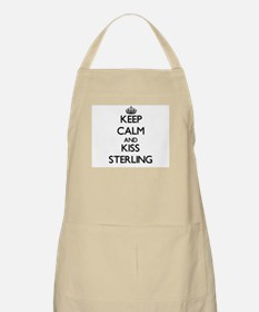 Keep Calm and Kiss Sterling Apron