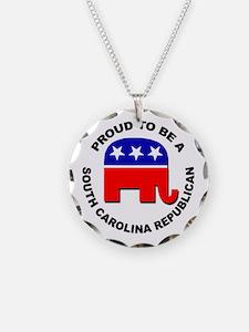 Proud South Carolina Republi Necklace