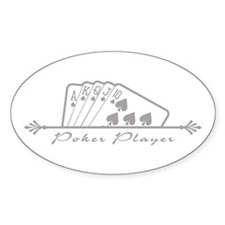 Poker Player Oval Decal