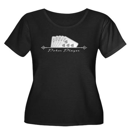Poker Player Women's Plus Size Scoop Neck Dark T-S