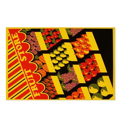 """Fruit Store"" Postcards (Package of 8)"