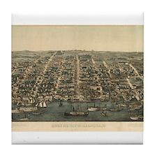 Vintage of Alexandria, VA. 18 Tile Coaster