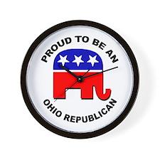 Proud Ohio Republican Wall Clock