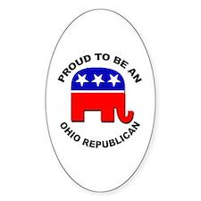 Proud Ohio Republican Decal