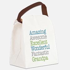 Grandpa - Amazing Fantastic Canvas Lunch Bag
