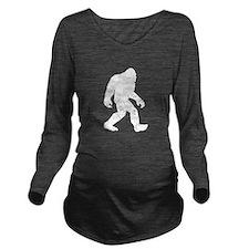 Bigfoot Silhouette Long Sleeve Maternity T-Shirt