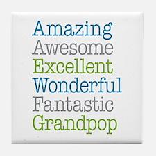 Grandpop - Amazing Fantastic Tile Coaster
