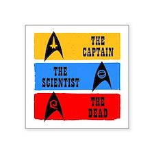 Captain Scientist Dead Sticker